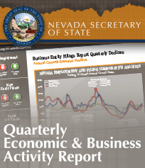Cover, Nevada Secretary of State Quarterly Economic & Business Activity Report
