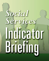 Cover, Applied Analysis Social Services Indicators Briefing